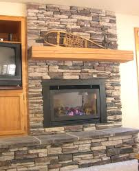 ate stacked stone electric fireplace heater faux corner