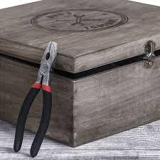 personalised large vintage wooden toolbox personalised