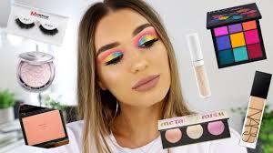 colourful makeup tutorial using new makeup s