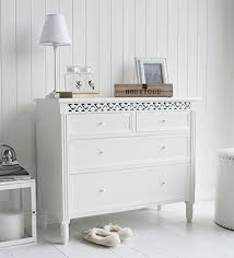 Awesome Elegant Set Of White Chest Of Draws For Bedroom