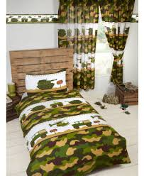 Army Camp Single Duvet Cover And Pillowcase Set Bedroom