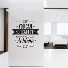 wall decal for office. Wall Decal Quotes - Art Typographic Sticker Dream It Achieve For Office Decor Inspirational Quote C