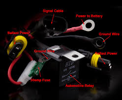 hid relay harnesses explained better automotive lighting the different components of the accessory wiring harness