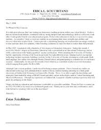 Experienced Teacher Cover Letters Cover Letter Template For Teaching Position Teaching Cover Letter