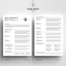 Clean Resume Design Template Word Resume Cv Cover Letter