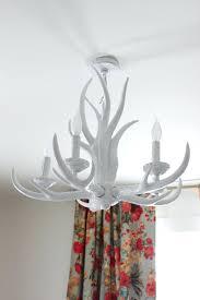 whitetail deer antler chandelier modern white