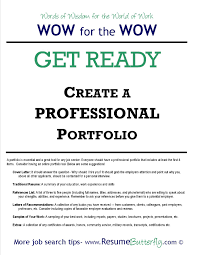How To Create A Professional Job Search Portfolio Resume Butterfly