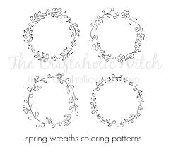 Spring Wreath Coloring Patterns Craftgawker