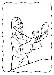 Small Picture Last Supper Coloring Pages The Last Supper Coloring Page Jesus