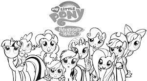 Free Download My Little Pony Christmas Coloring Pages Coloring