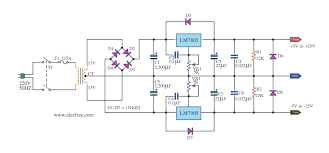 circuit diagram image wiring diagram bipolar fixed lm 7805 7905 circuit schematics internet on 7905 circuit diagram