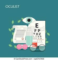 Oculist Concept Vector Flat Style Design Illustration