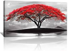 Shop items you love at overstock, with free shipping on everything* and easy returns. Amazon Com Canvas Wall Art For Living Room Bathroom Wall Decor Black And White Landscape Red Tree Moon Scenery Hang Painting Home Decorations For Office Bedroom Kitchen Works Canvas Prints Pictures 20 X