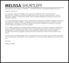 Sample Cover Letter For A Buyer   Job Cover Letters   LiveCareer