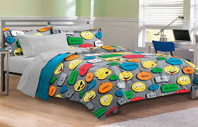 bedding colorful details on grey teen boy bedding decorating simple in minimalist bedroom with hardwood flooring