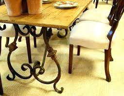 glass top iron dining table full size of wrought iron dining table oak with legs designs