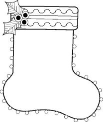 christmas stocking clipart black and white. Fine Stocking Black And White Clipart For Christmas 2014 Stocking Coloring  Page  Quotes With And K