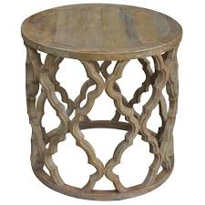 sirah recycled timber round side table 60cm find bargains and vouchers
