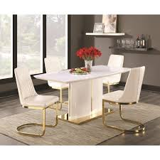 Cornelia Contemporary Dining Side Chair With 24k Gold Detail Set Of 2