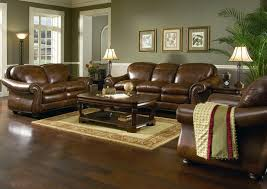 Western Couches Living Room Furniture Brown Leather Ocmfy Sofa Varnished Western Living Room Round Tulip
