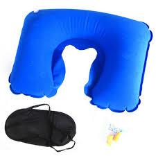 office sleeping pillow. 3in1 sleeping eye mask ear plug u shaped pillow blue black office a
