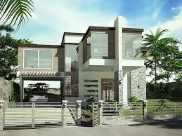 modern house. Simple Modern House With White Paint T