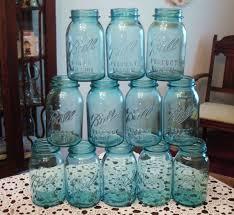 Blue Mason Jars Wedding Decor 100 best Vintage Blue Mason Jars Ball and Atlas images on Pinterest 99