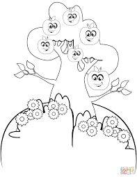 Small Picture Cartoon Apple Tree coloring page Free Printable Coloring Pages