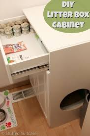 corner cat litter box furniture. Contemporary Litter Diy Cat Litter Box Furniture Best Of 24 Food Station Images On  Pinterest Corner