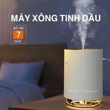 Máy Xông Tinh Dầu Khuếch Tán Hương Thơm, Khử Mùi Phòng, Phun Sương Tạo Ẩm,  Đèn LED Trang Trí Phòng Ngủ