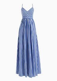 J Crew Resume Dress JCrew Long drapey spaghettistrap dress in stripe Dresses 68