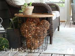 diy outdoor chandelier easy all things heart and home lighted side table 2 diy outdoor chandelier