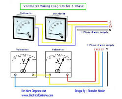 dc voltmeter wiring diagram electric meter wiring diagram wirdig note that this voltmeters 3 phase wiring diagram for analog voltmeters