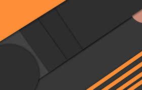 Wallpaper orange, black, geometry ...