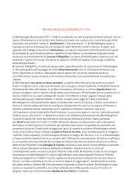 Michelangelo Buonarroti vita e stanze vaticane - StuDocu