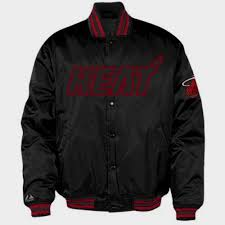 Majestic Jacket Size Chart Details About Miami Heat Satin Youth Jacket Full Button Hardwood Classics Black Majestic Nba