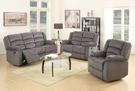 fabric recliner sofa. Jagger Grey Fabric Recliner Sofa Set T