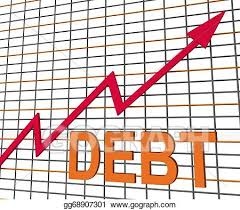 Chart Showing Increase Clipart Debt Graph Chart Shows Increase Financial Indebted