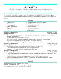 Executive Assistant Resume Templates Free Resume Templates Administrative Assistant 3 Free Resume