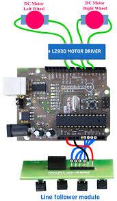 line follower robot connection circuit diagram arduino and line follower sensor