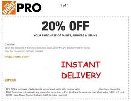 Home Depot 20 Off Paint Stains Primers Coupon Instant Delivery Ebay