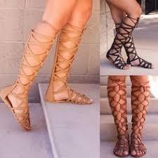 SAGACE <b>Shoes Sandals</b> fashion Ladies <b>Summer</b> Knee High ...