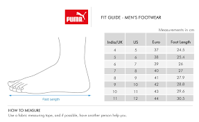 Puma Big Girl Size Chart 38 Extraordinary Puma India Size Chart