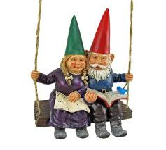 29 99 gnome interlude swinging couple garden statue swing from things24 get it here