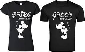Nice Couple Shirt Designs Mickey Groom Minnie Bride Matching Cute Designs Custom