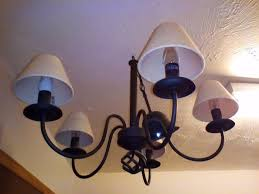 large 5 arm vintage black ceiling candelabra pendant light chandelier cream waffle lamp shades