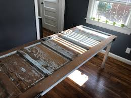 reclaimed door into a new table