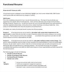Template For Functional Resume Impressive Example Functional Resume Sample Of A Functional Resume Format