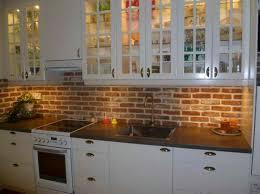 fake brick kitchen backsplash design ideas faux decoration