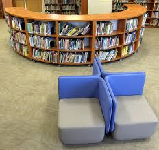 Library seating furniture College Roseville The Final Product New Jersey Installation Featuring Bci Curved Shelving Minecraftyoobcom Bci Softline Library Seating Archives Bci